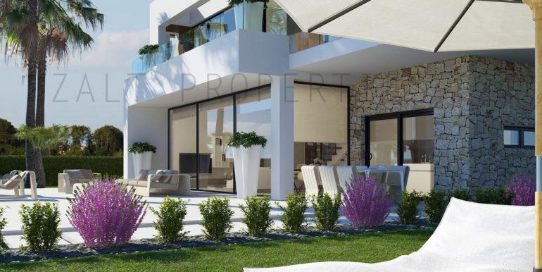 Vivienda + Jardín (Vista parcial) - Aquamarine Golf